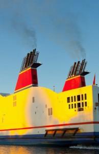 Marine Diesel Fumes Close-up